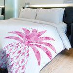 Pleasant Pineapple Fleece Duvet Cover