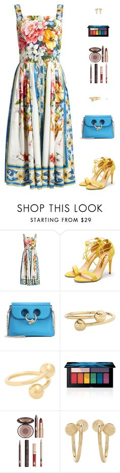 """Untitled #5002"" by mdmsb on Polyvore featuring Dolce&Gabbana, Rupert Sanderson, J.W. Anderson, Smashbox and Charlotte Tilbury"