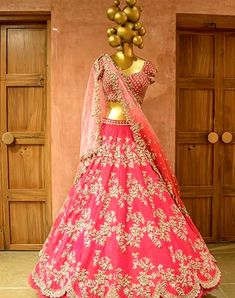 Embellished with hand embroidery detailing and net dupatta. This wedding season you can wear this gorgeous dress to look stunning. Indian Reception Outfit, Wedding Reception Outfit, Wedding Lehnga, Red Lehenga, Party Wear Lehenga, Lehenga Choli, Lehenga Blouse, Anarkali, Sari