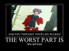 Poor girl. She was a bit difficult, but pure spirited, especially in light of her suffering. -- Elfen Lied