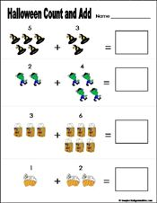 math worksheet : preschool and kindergarten halloween math worksheet  marvelous  : Kindergarten Halloween Math Worksheets
