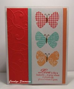 Stampin Up, Butterfly Prints stamp set