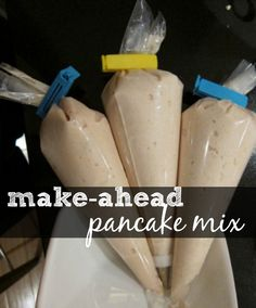 Make-ahead pancake mix....going camping this summer for the first time in years....this would be really cool to do!