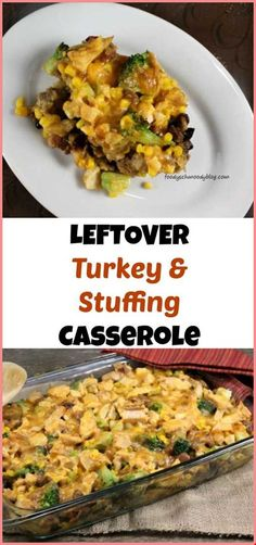Thanksgiving dinner is repurposed and made into this easy Leftover Turkey and Stuffing Casserole. Use stuffing, turkey and even your leftover vegetables. Skillet Chicken Parmesan, Crispy Oven Fried Chicken, Chicken Parmesan Recipes, Stuffing Casserole, Stuffing Recipes, Leftovers Recipes, Leftover Turkey Recipes, Casserole Recipes, Dinner Recipes