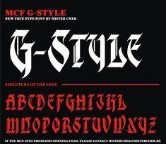 MCF_G_style font by MisterChek on deviantART