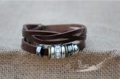 alloy accessories for couples bracelet with leather punk retro bracelet   Tophandmade - Jewelry on ArtFire