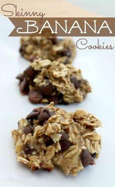 Skinny Banana Chocolate Chip Cookies
