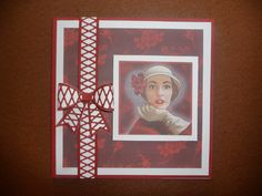 Made with My Craft Studio and Sue Wilson 3D lattice bow. The lattice reflects the netting on the lady's hat