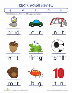 math worksheet : fill in the short vowel  short vowels worksheets and shorts : Phonics For Kindergarten Worksheets
