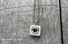 Instagram Charm on Necklace-Painted on Etsy, $25.00