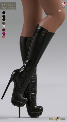9 West Women S Shoes Refferal: 4065331470 Extreme High Heels, Platform High Heels, Black High Heels, Thigh High Boots, High Heel Boots, Heeled Boots, The Sims, Sexy Stiefel, Sims 4 Cc Shoes