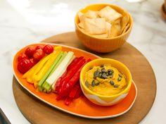 Sunny's Easy Roasted Garlic and Pumpkin Hummus Recipe : Sunny Anderson : Food Network - FoodNetwork.com