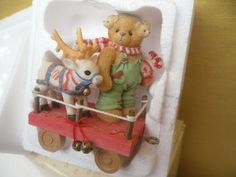 "CHERISHED TEDDIES"" CHRISTMAS "" KIRBY W/DEER FRIENDS"" TRAIN CAR FIGURINE219118"