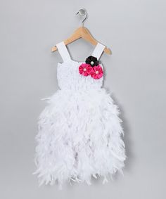 Take a look at this White Feather-Skirt Dress - Infant & Toddler by Bébé Oh La La on #zulily today!