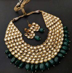 Indian Jewelery traditional Jewelery,party wear Jewelery,Kundan and pearls necklace and earrings combo set Kundan Jewellery Set, Indian Jewelry Sets, Fancy Jewellery, Indian Wedding Jewelry, Designer Jewellery, Ruby Jewelry, Bridesmaid Jewelry Sets, Bridal Jewelry Sets, Bridal Jewellery