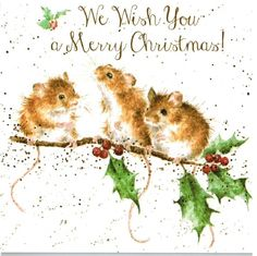Amazon.com : Christmas Mice Boxed Christmas Card Set of 8 Cards : Office Products