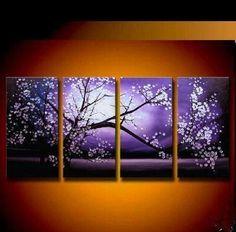 panel cherry trees purple