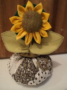 "Fare Arte con Clau: Door Weight ""Sunflower Flower"""