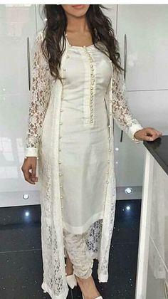 Indian Bollywood pakistani kurta dress With pant Flared Top Tunic Set blouse Pakistani Kurta, Indian Kurta, Indian Silk Sarees, Anarkali, Indian Ethnic, Kurti With Jacket, Kurtis With Pants, Bollywood Dress, Indian Bollywood