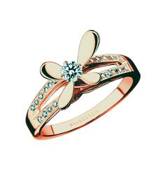 Moi Aimer Toi ring, by Mauboussin.  Rose gold and diamonds.
