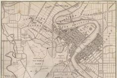 Historical map of Brisbane