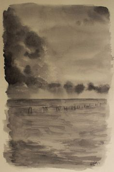 Serie de paisajes en Blanco y Negro - Mar y nubes. Series of landscapes in Black and White - Sea and clouds. HMZEN'14