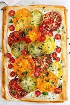 Tomato Ricotta Phyllo Tart @girlversusdough