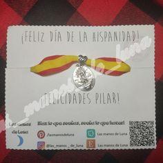 Pulsera de la Virgen del Pilar patrona de Zaragoza.  ¡HAZ LO QUE SUEÑAS, SUEÑA LO QUE HACES!  #Pulsera #Imaginación #Hechoamano #Handmade #Lasmanosdeluna #Regalo #Nuevo #Macrame #Colores #Amigos #Amistad #Zamaz #España #Virgen #Pilar