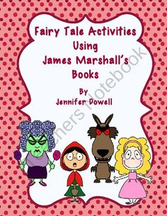 "These activities go along with James Marshall's fairy tale books. The fairy tales used are ""Hansel and Gretel"", Red Riding Hood"", ""Goldilocks and t. Fairy Tale Activities, Reading Activities, Reading Resources, Guided Reading, Fairy Tales Unit, Goldilocks And The Three Bears, Used Books, Children's Books, Three Little Pigs"