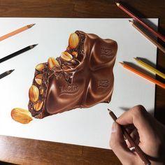 My longest drawing without a break by marcellobarenghi…. on - My longest drawing without a break by marcellobarenghi on DeviantArt Sweet Drawings, 3d Drawings, Realistic Drawings, Colorful Drawings, Fruits Drawing, Food Drawing, Drawing Faces, Drawing Ideas, Marker Kunst