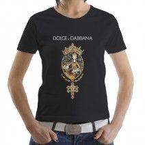 e7ec1800281104 Dolce amp Gabbana Gold Woman T-Shirt 2014. All Sizes S-2XL.