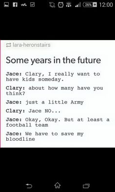 #TMI #clary and jace #future #humor