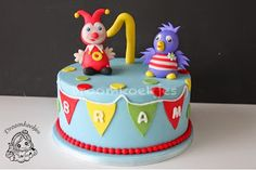 Droomkoekjes: Jokie en Jet taart Jokie and Jet cake Cupcakes, Birthday Cake, Desserts, Recipes, Was, Baked Chicken, Holland, Nice, Carnival