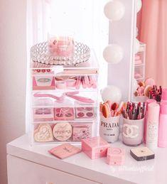 Room Design Bedroom, Room Ideas Bedroom, Bedroom Decor, Cute Room Ideas, Cute Room Decor, Makeup Room Decor, Makeup Rooms, Glam Room, Vanity Decor