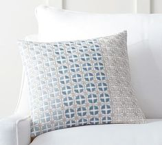 Natalie Geo Embroidered Pillow Cover #potterybarn, 18 inch