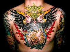 At 2 Highres View Tagged Tattoo Chest Wings Ship Eagle Tattoo Design Best 3d Tattoos, Back Tattoos, Trendy Tattoos, Leg Tattoos, Arm Tattoo, Tattoos For Guys, Tatoos, Tattoo Art, Eagle Chest Tattoo