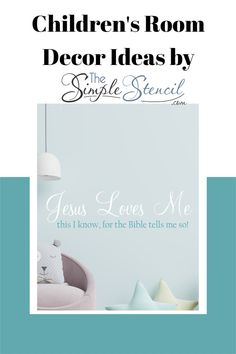 Beautifully designed, easy to install, wall decal that reads: Jesus loves me this I know, for the bible tells me so! Customize this design in over 70 colors. Many sizes available for small children's rooms to large Sunday school classrooms. Satisfaction Guaranteed. #jesuslovesme #jesus #christ #bible #bibleverse #sundayschool #religious #christian #walldecor #roomdecor #churchdecor #decals #wallart #stencils #roomdecor #homedecor Bible Verse For Moms, Bible Verse Art, Christian Wall Decor, Christian Living, Christian Friends, Christian Gifts, Childrens Room Decor, Playroom Decor, Nursery Ideas