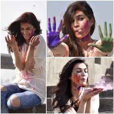 Have A Dry Holi! Save Water by Beautiful Bollywood Actress, Beautiful Indian Actress, Beautiful Actresses, Indian Celebrities, Bollywood Celebrities, Bollywood Stars, Bollywood Fashion, Holi Girls, Holi Photo