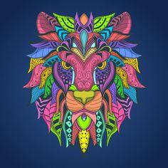 Lion head colorfull t-shirt design Premium Vector Lion Design, Tee Design, Corel Painter, Doodle Art Designs, Vector Photo, Cool Art Drawings, Animal Heads, Graffiti Art, Pop Art
