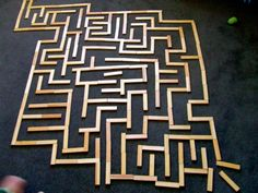 Labyrinth of KAPLA bloxks!