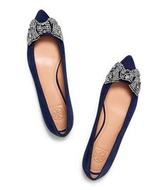 Gorgeous Tory Burch flats in black or navy. 30% off with code: LABORDAY14
