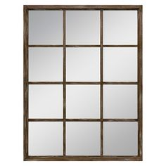 Wall Mirror Threshold Brown -- $49.99