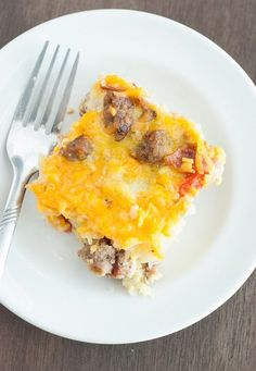 Low Carb Breakfast Casserole - I've been looking for a recipe like this, now I've got it! It's seriously easy and super tasty.