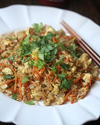 Spicy Carrot Fried Rice Recipe AB: Delicious and spicy.  The hardest part was to julienne the carrots.