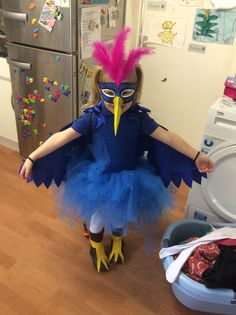 Diy rainbow bird wing costume pinterest bird wings rainbows and nellie wanted to be the roly poly bird from the twits and the enormous crocodile solutioingenieria Image collections