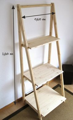 tried this pin add a photo to show how it went diy easy wood and furniture design 7 Built In Bookcase, Ladder Bookcase, Ladder Shelf Diy, Easy Woodworking Projects, Wood Projects, Diy Furniture, Furniture Design, Diy Home Decor, Room Decor