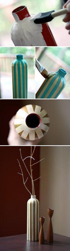 Diy: Fire Extinguisher vase tutorial