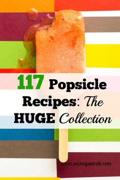 Popsicles are the awesome treats that you can prepare in more than 100 diffferent ways. From sweet to zesty, this huge collection of popsicle recipes has you covered.