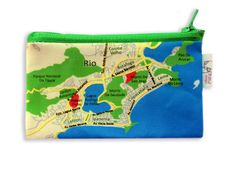 Coin purse wallet colorfull and unique with BRASIL map by efratul