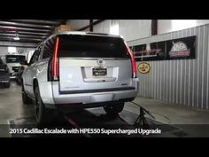 Supercharged 2015 Cadillac Escalade Chassis Dyno Testing